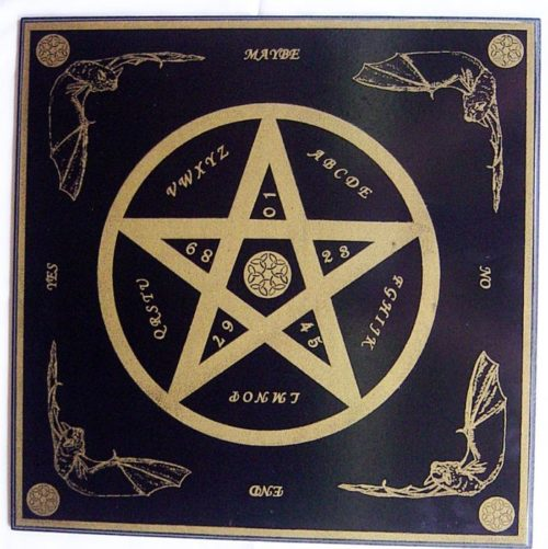 Tavola spiritica quadrata con pentagramma