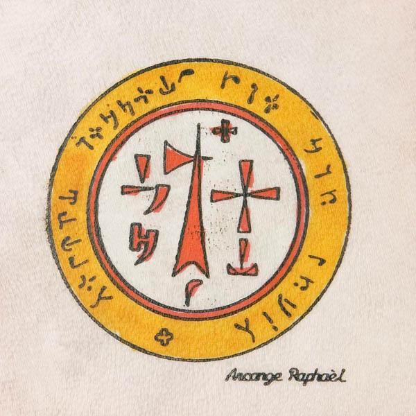 Pentacolo arcangelo Raffaele pergamena