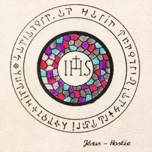 Pentacolo Gesu ostia pergamena