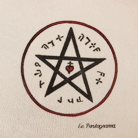 Pentacolo il pentagramma pergamena