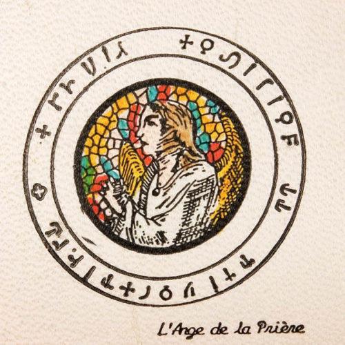 Pentacolo l'angelo della preghiera pergamena