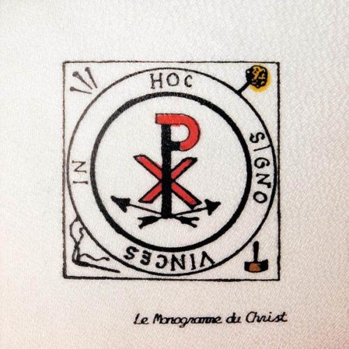 Pentacolo Monogramma di Cristo pergamena