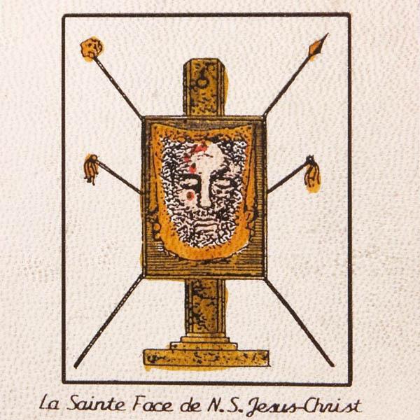 Pentacolo santo viso dil nostro signore Gesu Cristo pergamena