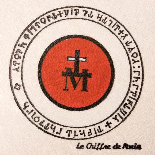 Pentacolo segno di Maria pergamena