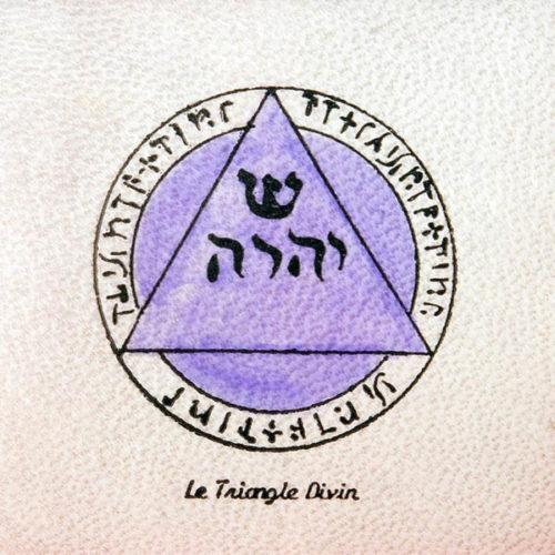 Pentacolo Triangolo Divino pergamena