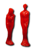 Dagida semplice donna rossa