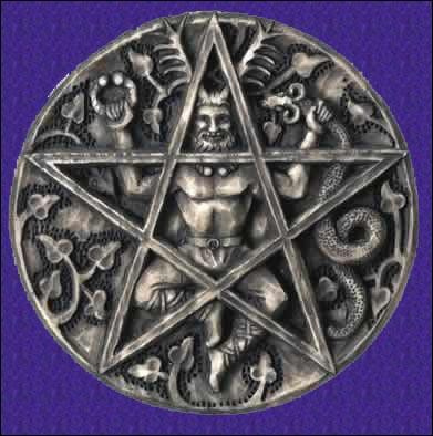 Pentagramma con Cernunno