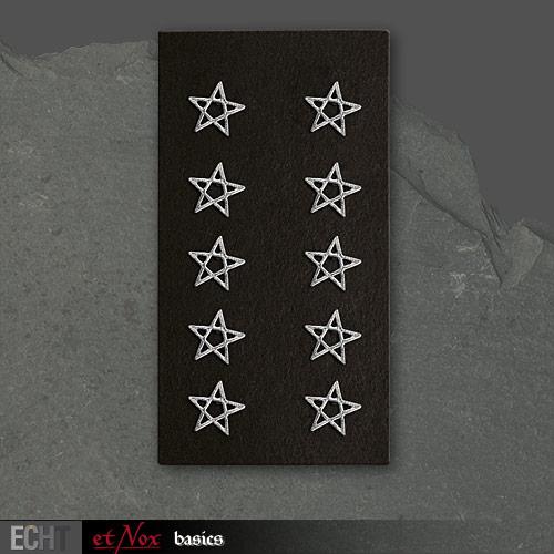 Orecchini con pentagramma